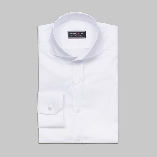 Valkoinen Oxford-paita cut-away kauluksella