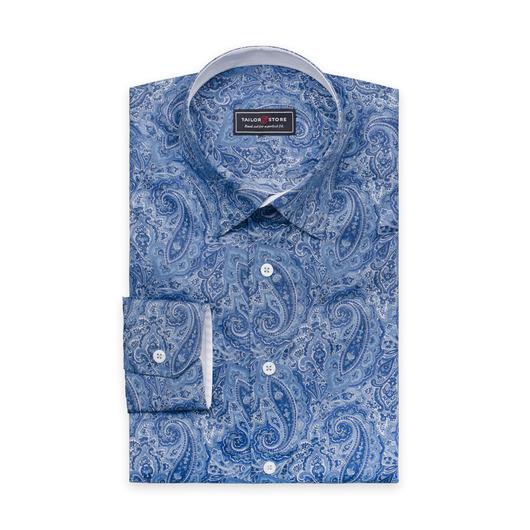 Dresskjorte i blå paisley