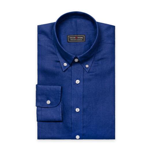 Chemise bleue en lin