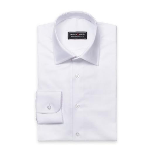 Weißes Twill-Hemd