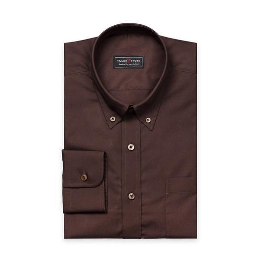 Mörkbrun poplinskjorta