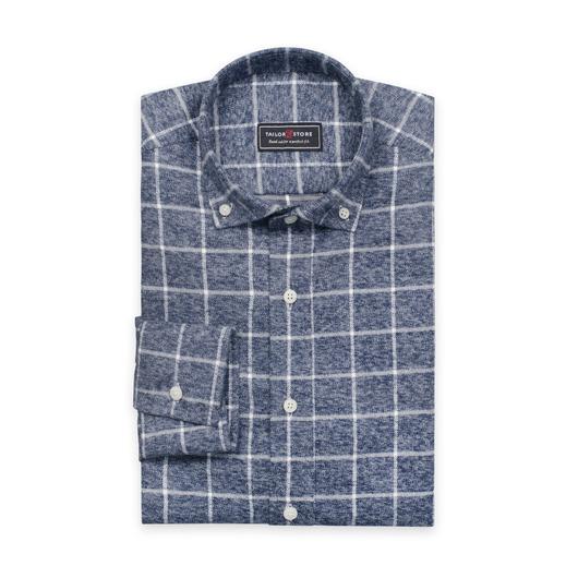 Grå flanellskjorta i tjockt och varmt tyg