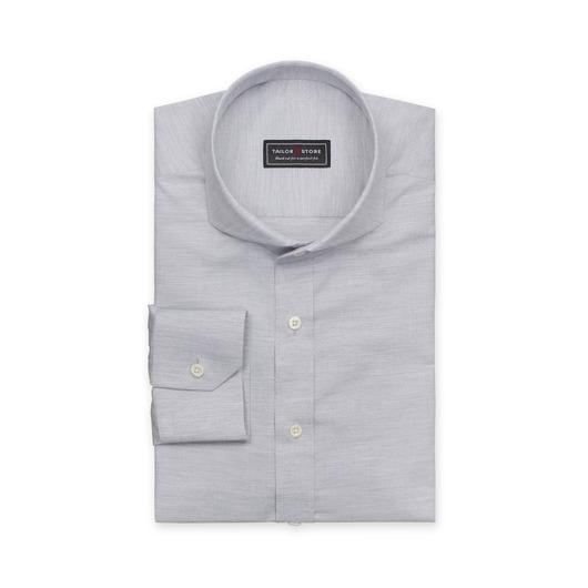 Chemise en coton dobby en gris clair