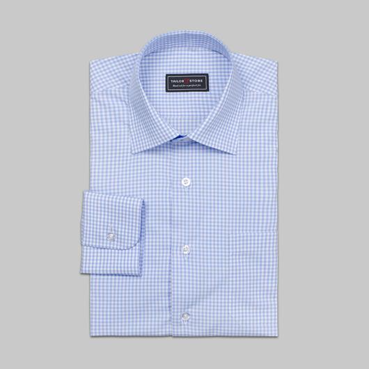 Checked dress shirt light blue/white
