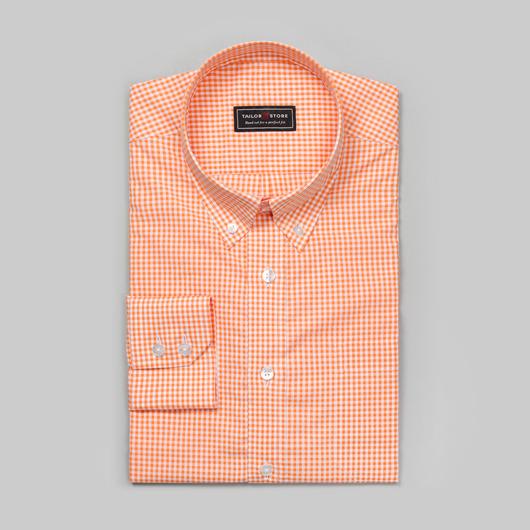 White/Orange checked shirt