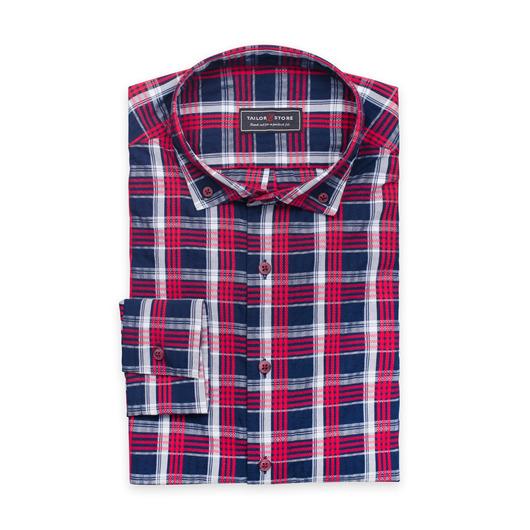 Luftiges Hemd in einem Seersucker-Stoff