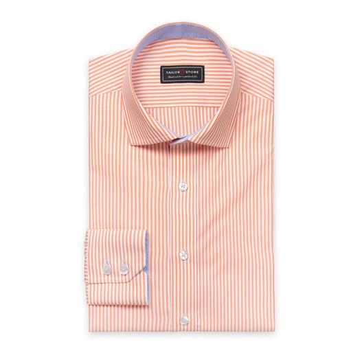 Orange/White striped poplin shirt