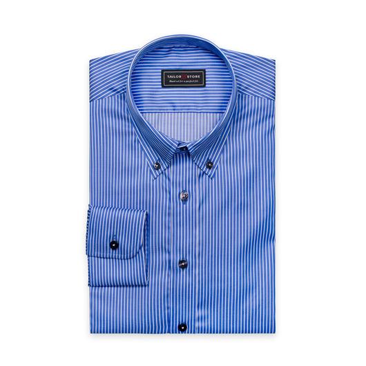 Niebieska/biała, twillowa koszula w paski