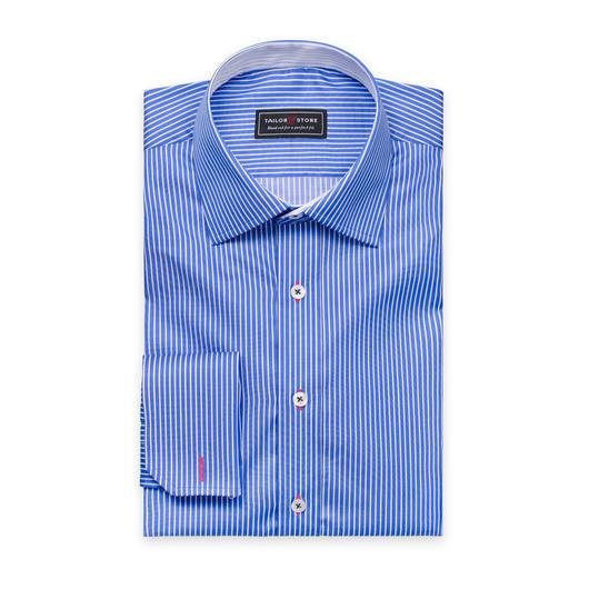 Wit/blauw gestreept overhemd