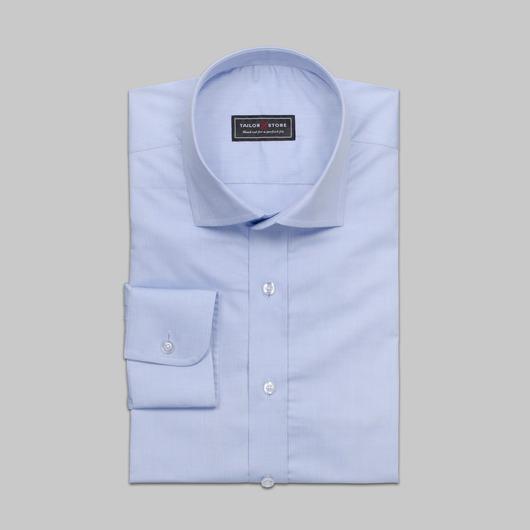 Lyseblå cut-away classic skjorte i bomuld