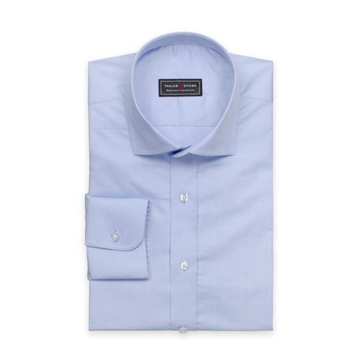 Chemise bleue clair en coton avec un col cut-away classique