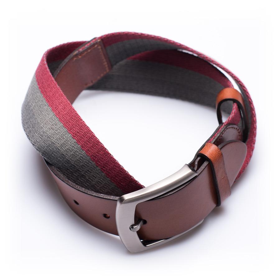 Preston Desert Sunrise - ceinture en cuir et tissu